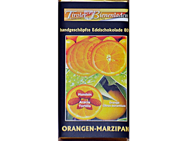 Schoko Orange-Marzipan 80%, 70g